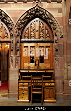 Internal view of John Rylands Library in Manchester. - Stock Photo