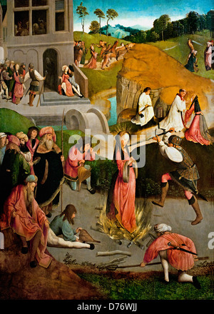 The Martyrdom of Saint Lucy 1490-1510 Master of the Figdor Deposition Haarlem or Amsterdam Dutch Netherlands - Stock Photo