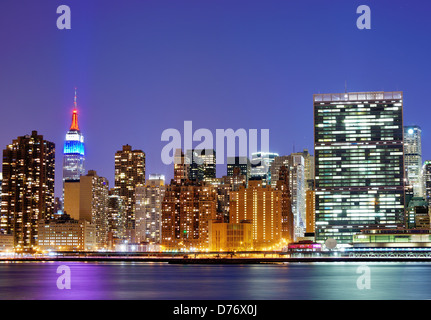 New York city famed skyline at Midtown Manhattan - Stock Photo
