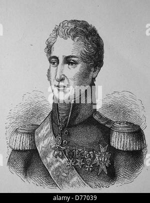 Charles X, Charles X Philippe, 1757 - 1836, last king of France and Navarre, woodcut from 1880 - Stock Photo