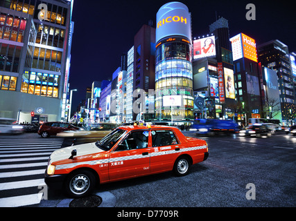 Ginza shoppping district of Tokyo, Japan. - Stock Photo