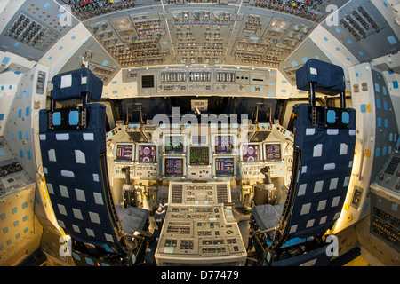 Flight Deck Or Cockpit Space Shuttle Atlantis Looking