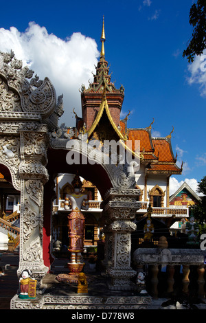 Thailand Chiang Mai city Wat Bupparam - Buddhist Temple This temple was founded by King Muang Kaew in 1497 - Stock Photo