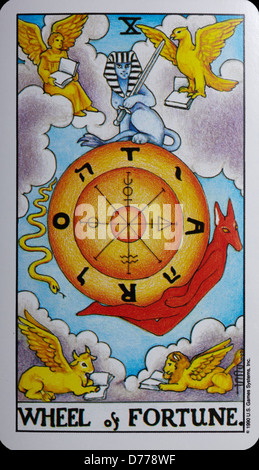 Tarot Card 'Wheel of Fortune' - Stock Photo