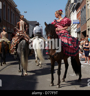 Belgium Walloonia Liege province Herve the cavalcade - Stock Photo