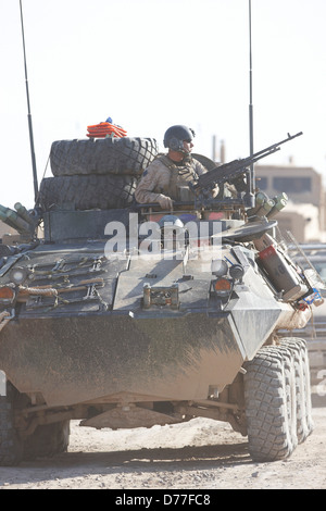 United States Marine Corps LAV-25 during combat operation Helmand Province Afghanistan - Stock Photo