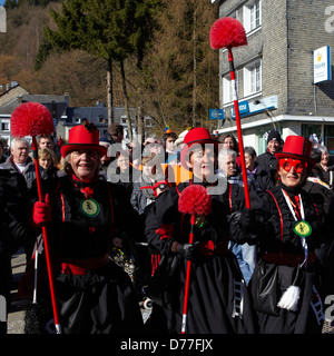 Belgium Walloonia Liege province Malmedy city carnival woman's portrait - Stock Photo