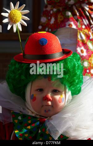 Belgium Walloonia Liege province Malmedy city carnival child's portrait - Stock Photo