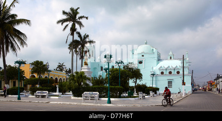 Mexico Veracruz state Tlacotalpan city protected by Unesco main square - Stock Photo