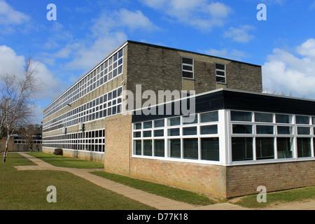 Exterior of secondary school building, Scarborough, England. - Stock Photo
