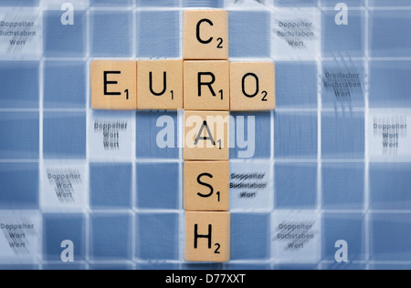 Stroke eurocrash on a play board - Stock Photo