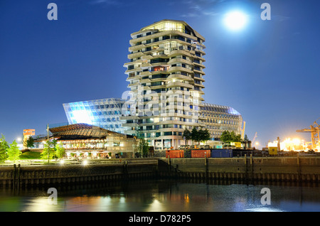 marco polo tower in the harbour city of hamburg germany. Black Bedroom Furniture Sets. Home Design Ideas