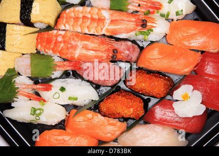 japanese sushi bento lunch box stock photo royalty free image 36742337 alamy. Black Bedroom Furniture Sets. Home Design Ideas