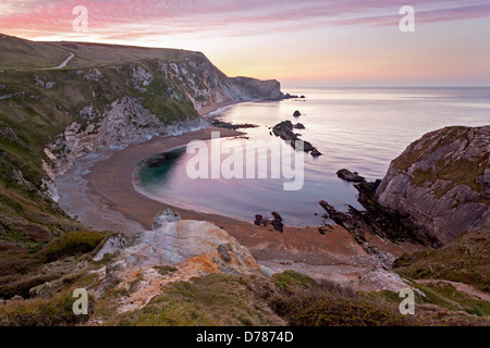 Man O' War cove in St Oswalds Bay near to Durdle Door on the World Heritage coast in Dorset, England. - Stock Photo