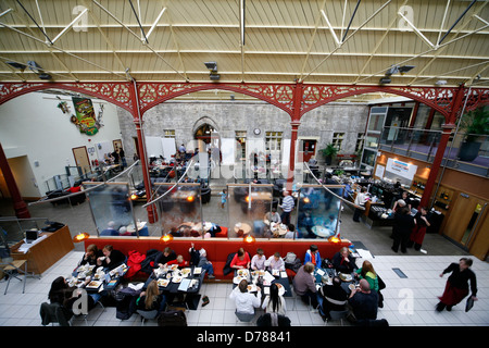 Disused railway station at Richmond Station  North Yorkshire now a cafe - Stock Photo