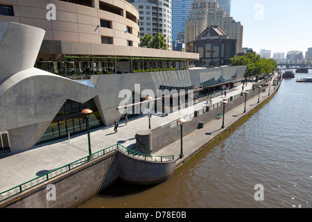 Southbank of the Yarra river Melbourne, Australia - Stock Photo