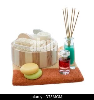 Wellness Set isolated on white background - Stock Photo