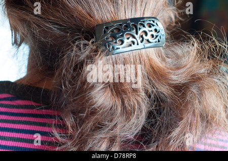 Hairdo of a woman close-up - Stock Photo