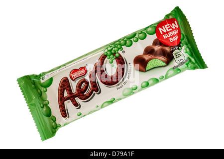 A Nestle mint Aero on a white background - Stock Photo