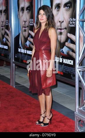 Marisa Tomei The premiere of 'The Ides Of March' held at the Academy theatre - Arrivals Los Angeles, California - Stock Photo