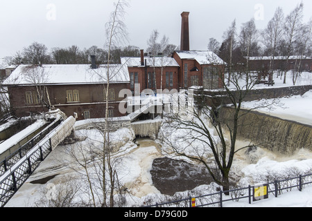 The Power Plant Museum buildings located in Old Helsinki on the Western fork of the Vantaa River, Helsinki, Finland - Stock Photo