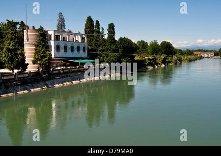 Italy, Lombardy, Cassano d'Adda, Adda River - Stock Photo
