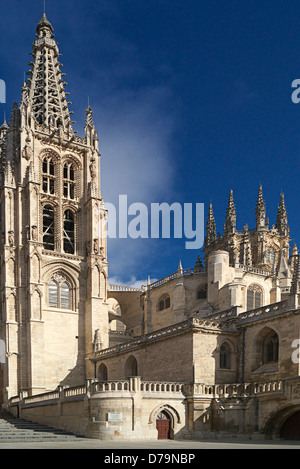 Cathedral of Santa Maria in Burgos Spain - Stock Photo