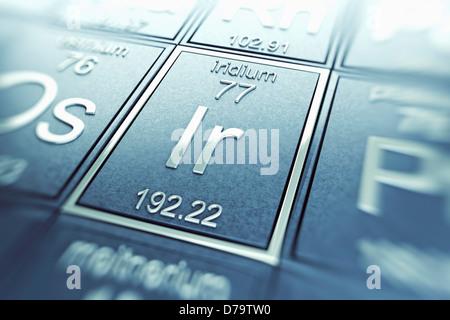 Iridium Chemical Element) - Stock Photo