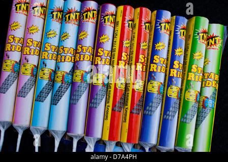 Close-up bottle rockets - Stock Photo