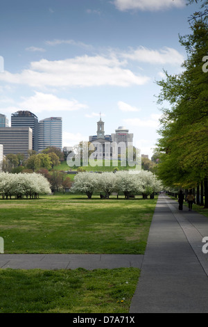 A view of the Bicentennial Capitol Mall State Park in Nashville, Tennessee - Stock Photo