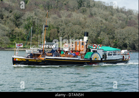 Kingswear Castle is the last remaining coal-fired paddle steamer in operation in the UK today. Launched in 1924 - Stock Photo