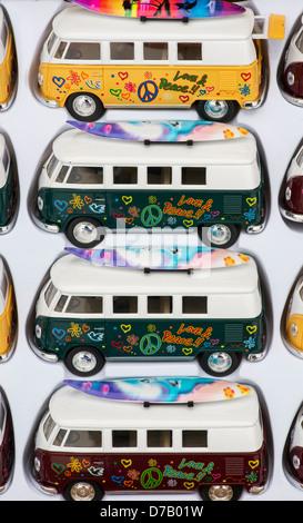 VW Volkswagen camper van model toys - Stock Photo