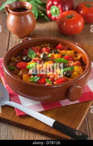 Peperonata Italian pepper stew Italy Food - Stock Photo