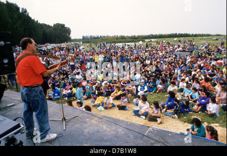 Open air music concert - Stock Photo