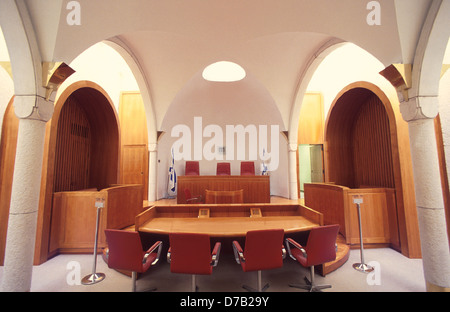courtroom at the supreme court in jerusalem - Stock Photo