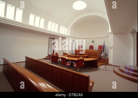 Courtroom at the Supreme Court in Jerusalem, Israel - Stock Photo