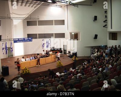 graduation ceremony at the hebrew university in jerusalem - Stock Photo