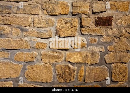 Stone wall,, Castle ruins of Beaufort or Belfort, Luxembourg, Europe, Die Burgruine Beaufort oder Belfort, Luxemburg, - Stock Photo