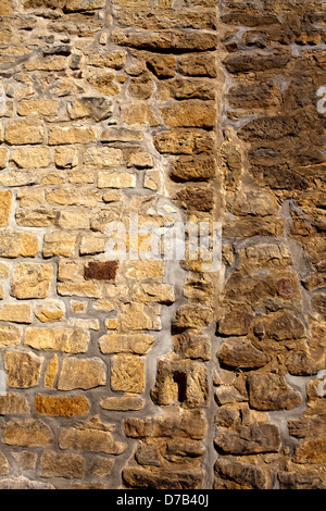 Stone wall,, Castle ruins of Beaufort or Belfort, Luxembourg, Europe, Die Burgruine Beaufort oder Belfort, Luxemburg, - Stock Photo