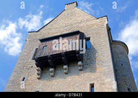 Burg Fels or Fiels Castle, Larochette, 11th century, Grand Duchy of Luxembourg, Europe, - Stock Photo