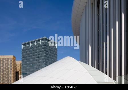 The Philharmonic Hall, Place de l'Europe, European quarter, Kirchberg plateau, Luxembourg City, Europe, - Stock Photo