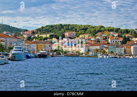Colorful town of Mali Losinj waterfront, Island of Losinj, Dalmatia, Croatia - Stock Photo