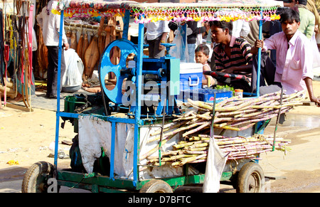 Sugarcane Juice seller - Stock Photo