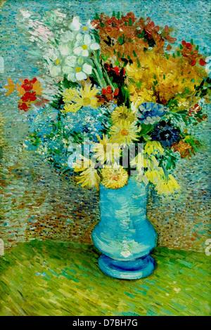 Flowers In A Blue Vase Van Gogh Stock Photo 48995235 Alamy