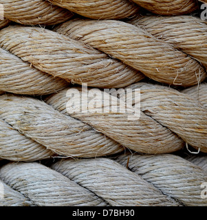 Grungy Old Rope - Stock Photo