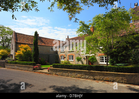 The Old Post Office in the village of Cossington, Somerset, England, UK - Stock Photo
