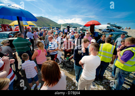 Glenbeigh Races at Rossbeigh beach Kerry - Stock Photo