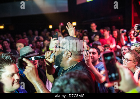 Hip-hop artist Killer Mike performing on May 1, 2013 at Park West in Chicago. Credit: Max Herman/Alamy - Stock Photo