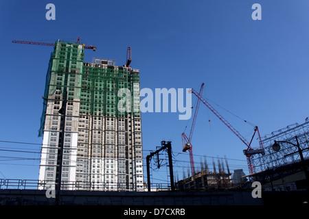 New condominium building under construction - Stock Photo