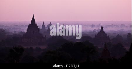 Bagan sunrise, Myanmar - Stock Photo